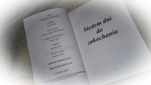 """KSIĄŻKA """"SIEDEM DNI DO ZAKOCHANIA"""" - kmacisia.blog"""