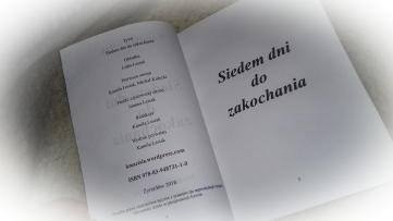 """KSIĄŻKA """"SIEDEM DNI DO ZAKOCHANIA"""""""